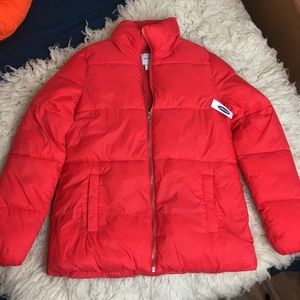 OLD NAVY red puffer jacket, NWT